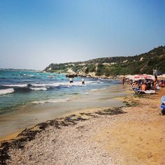 Beach in Pyrgos, Greece