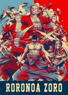 "Beautiful ""Roronoa Zoro"" metal poster created by Lost Boys Dsgn. Our Displate metal prints will make your walls awesome. One Piece 2, Zoro One Piece, One Piece World, One Piece Anime, Anime Couples Manga, Cute Anime Couples, Anime Girls, Pop Art Posters, Poster Prints"