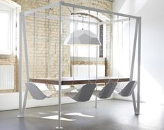 Swinging Chair Dining Table
