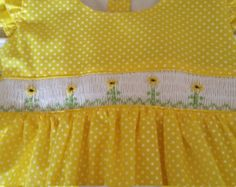 Size 1Handmade smocked dress by WeissAU on Etsy