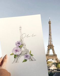 No automatic alt text available. Watercolor Logo, Watercolor Artwork, Watercolor Cards, August Themes, Paris Painting, Country Paintings, Beautiful Drawings, Illustrations And Posters, Whimsical Art