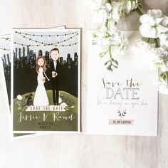 watercolor illustrated save the date | www.laurenkonrad.com