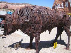 Metal Yard Sculptures | Scrap metal yard art