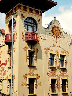 Art Nouveau; The Villa Helenka was designed and built in 1903, Prague, by the architect Alois Korda for his own use