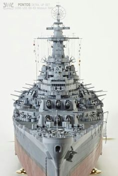 BB-63, built by master modeler Kim hyun-soo, south korea