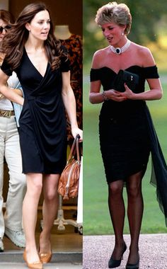 The Little Black Dress from Fashion Face-Off! Kate Middleton vs. Princess Diana  Every gal knows a solid LBD is a staple, and Di rocked that look professionally. Kate follows in the Lady's fashion footsteps nicely in this department, although we would like to see a little more accessorizing on Kate's part. The black wrap dress the bride-to-be wore last week was so flattering but the complete style was a casual flop. Seriously, Di did the little black thing with so much more formal ...