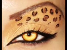 Cheetah Print Makeup