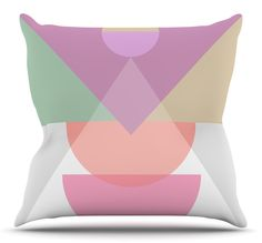 Pastel Play 3X by Mareike Boehmer Throw Pillow