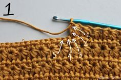Stern-Stich - This is the 'sun burst stitch'  also known as daisy stitch and star stitch......