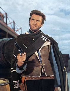 Clint Eastwood / A Fistful of directed by Sergio Leone - Stock Image Clint Eastwood Quotes, Actor Clint Eastwood, Eastwood Movies, Scott Eastwood, Westerns, Movies Wallpaper, Movies Quotes, Comedy Movies, Sergio Leone