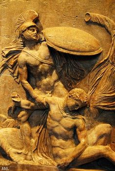 Detail from the Persephone sarcophagus. 2nd.century A.D Roman.  http://hadrian6.tumblr.com