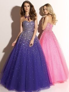 Fashion Tulle Sweetheart Crystal Detailing Lilac Ball Gown Prom Dress in UK