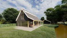 Schuurwoning BONGERS architecten bnaBONGERS architecten bna May House, Prefab Homes, Shed, New Homes, Villa, Outdoor Structures, House Design, House Styles, Home Decor