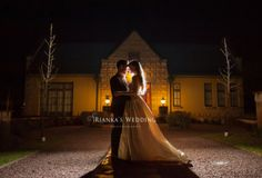 night photo bride + groom | Rianka's Wedding Photography