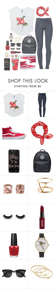 """""""Fantasticoo!"""" by iarsotelo ❤ liked on Polyvore featuring Cheap Monday, Vans, rag & bone, Casetify, Carolee, SOKO, NYX, OPI, Olivia Burton and H&M"""