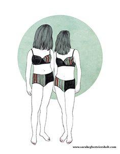 Swimsuits. Illustration by Sarah Egbert Eiersholt