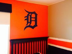 Detroit D wall decal by n.a.g Kreationz check out their etsy or website!  Detroit tigers, boys or kids bedroom, fathead