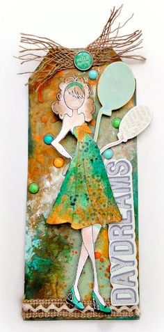 National Scrapbook Day with Prima! Mixed Media Doll Tag with Adrienne Ford-10:00-11:00am PT/ 1:00pm-2:00pm ET here:http://bit.ly/1mdYYKQ #nsd #prima #julienutting #dollstamps #adrienneford #lwp