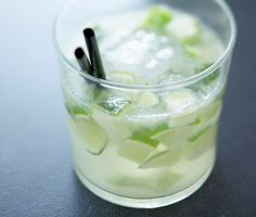 Caipirinha } A sweet cocktail, the Caipirinha is Brazil's national drink and the original version is made with cachaça (a Brazilian liquor derived from sugarcane), sugar and lime. The drink can be given a fruity twist by adding crushed fresh fruits such as tangerine, kiwi and mango. It can even be mixed with vodka or sake to soften the sweet flavor.