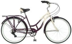 Complete Cruiser Bikes - Schwinn Womens Sanctuary 7Speed Cruiser Bicycle 26Inch Wheels CreamPurple 16Inch *** You can find out more details at the link of the image.