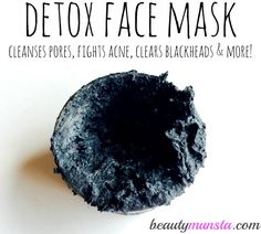 This bentonite clay and activated charcoal face mask is the perfect detox your face needs to