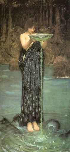 Circe of Kirke (Grieks: Κίρκη, Kírkē), dochter van de zon, is in de Griekse mythologie een tovenares die leefde op het eiland Aeaea, dat volgens de Grieks-Romeinse traditie gelegen was in de buurt van Italië. Haar verblijfplaats zou de berg Circeo zijn. Het verhaal van Circe wordt verteld in Boek X en XII van Homerus' Odyssee.   Circe en Odysseus door John William Waterhouse Circes vader was Helios, de zonnegod, en haar moeder was Perseis, één van de Oceaniden. Ze was een getalenteerd…