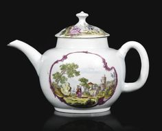 <3  Rare Vauxhall teapot and cover. Circa 1757-59 | Sotheby's