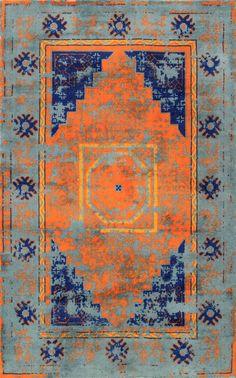 tuscan cc04 fading temple medallion rug