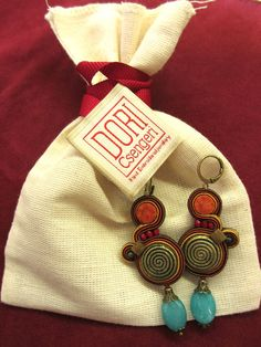 """I LOVE LOVE LOVE my Alora earrings! Thank you Dori!"" #DoriCsengeri #earrings #fallcolors #bohochic #dangleearrings #dropearrings"