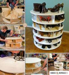 Schuhschrank selber bauen - der Schuhschrank zum Drehen