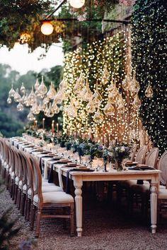 Rosa Clara for a Sophisticated + Elegant Woodland Wedding in Mallorca With Lots of Fairylights Wedding Reception Decorations, Wedding Themes, Wedding Ideas, Woodland Wedding Venues, Wedding Receptions, Wedding Blog, Forest Wedding, Dream Wedding, Tent Wedding