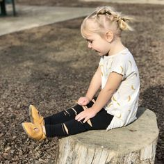 4df6e4c877707 Ripped Black Leggings // Toddler Girl Leggings // Baby Girl Distressed  Leggings // 90's grunge inspired pants // Toddler Gift