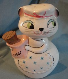 Vintage 1958 Holt Howard Cat Kitten Sugar Shaker