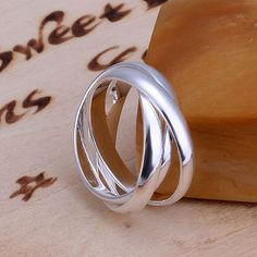 US Women 925 Silver Simple Fashion Ring Gift Thumb Finger Band Wedding Jewelry