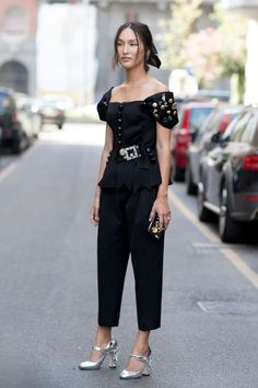 The Street Style at Milan Fashion Week May Be the Best Yet Day 5 Nicole Warne