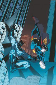 Superman/Batman # 1 variant cover by Ed McGuinness and Dexter Vines. Mundo Superman, Batman E Superman, Batman Art, Batman Drawing, Superman Stuff, Batman Robin, Spiderman, Dc Comics Art, Marvel Dc Comics