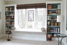 Built-in window seat with bookcases | Chicago ReDesign
