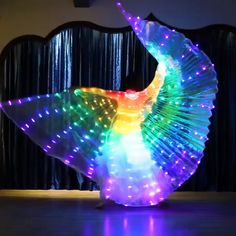🌈Rainbow Wings🦋 <br> Be the dancing queen with this beautiful Butterfly Wing Features: Easy and simple to start glowing up the stage in no time! Simply pop in 3 AA batteri