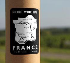 Metro Wine Map of France – $25