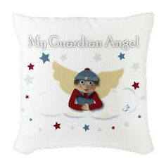 Raggedy Ion Burlap Throw Pillow> Raggedy Ion> Angelic Inspirations  J.L. Designs
