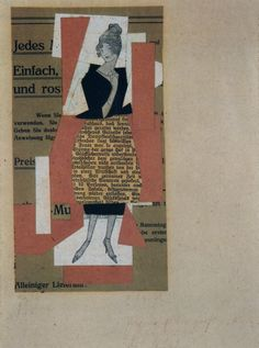 Kurt Schwitters,Figurine, 1921, collage, 17,3 x 9,2 cm, private collection