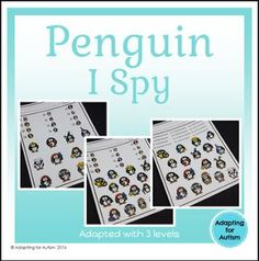 """FREE LESSON - """"Free Winter Game: Penguin I Spy adapted with 3 levels"""" - Go to The Best of Teacher Entrepreneurs for this and hundreds of free lessons. Pre-Kindergarten - 2nd Grade   http://www.thebestofteacherentrepreneurs.com/2017/01/free-misc-lesson-free-winter-game.html"""