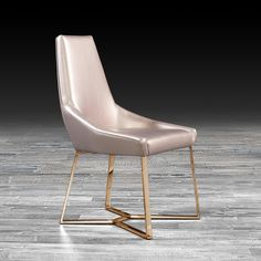 8652d730f148d1 Lorensia glam dining chair features rose gold stainless steel base and  comfortable seat with black pearlized. Allamoda Modern Furniture