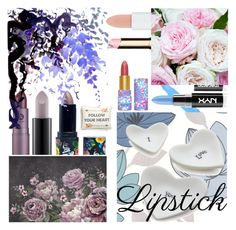 """""""Untitled #302"""" by my-names-lee ❤ liked on Polyvore featuring beauty, Lime Crime, MAC Cosmetics, Rimmel, Lipstick Queen, Clarins, Moyses Stevens, tarte, Crate and Barrel and Levtex"""