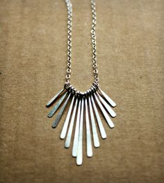 Sterling Silver Fringe Necklace | Caprichosa Jewelry | Scoutmob Shoppe