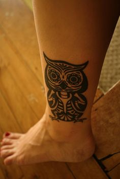 DOD OWL #owl #dayofthedead #tattoo