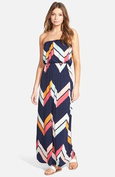 97bd4c1a80b5 Trixxi Chevron Print Maxi Dress (Juniors) available at #Nordstrom Casual  Dresses For Women