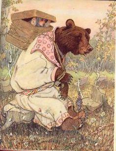 Evgenii Rachev, an illustration for Russian folk tales