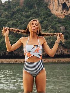 Chicnico Go Lucky Tie Floral Print Bikini Set #swimwear