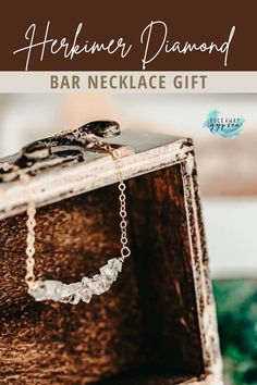 If you love natural stone jewelry, this smokey crystal herkimer diamond necklace is the ultimate boho jewelry piece for everyday style or if you need the perfect anniversary or engagement gift idea for her. The dainty bar necklace comes in multiple lengths and chain colors, so no matter when you love gold, silver, or brass necklaces, you can find what you're looking for with this handmade herkimer diamond piece. Cute Jewelry, Boho Jewelry, Jewelry Gifts, Diamond Bar Necklace, Handmade Gifts For Her, Raw Gemstones, Herkimer Diamond, Gold Filled Jewelry, Bridal Necklace